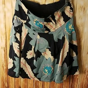 Free People FP floral pleated skirt
